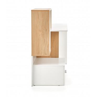 GROSSO biurko dąb złoty / biały (1p 1szt) - Halmar