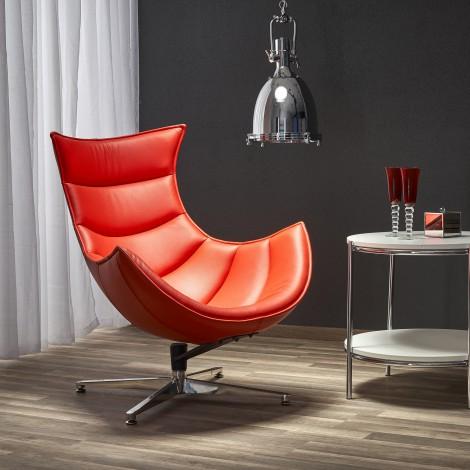 LUXOR fotel wypoczynkowy czerwony (1p 1szt) - Halmar