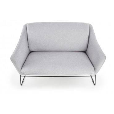 SOFT 2 XL fotel wypoczynkowy podwójny czarny stelaż, jasny popiel (1p 1szt) - Halmar