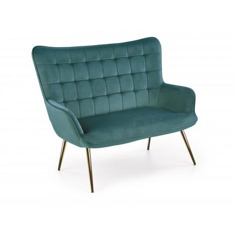 CASTEL 2 XL sofa ciemny zielony / złoty - Halmar