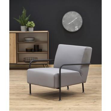 CUPER fotel wypoczynkowy popielaty / czarny (1p 1szt) - Halmar