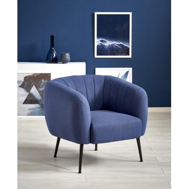 LUSSO fotel wypoczynkowy ciemny niebieski - Halmar