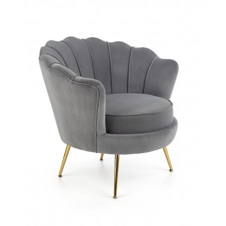 AMORINITO fotel wypoczynkowy popielaty / złoty - Halmar