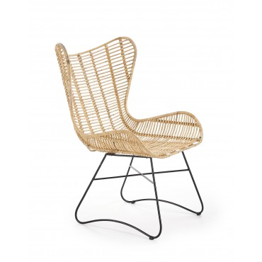 INDIANA fotel wypoczynkowy rattan naturalny (2p 1szt) - Halmar