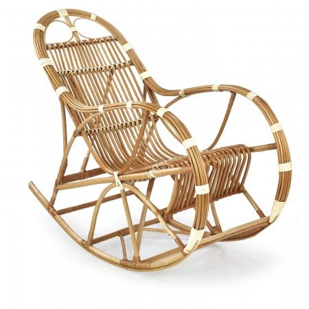 ROCCO fotel wiklinowy bujany, kolor: naturalny (1p 1szt) - Halmar