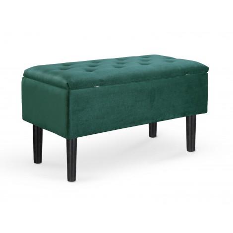 CLEO ławka z pojemnikiem ciemny zielony (1p 1szt) - Halmar