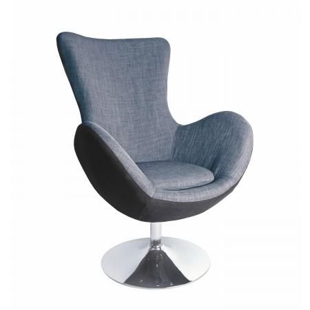 BUTTERFLY fotel wypoczynkowy czarno - popielaty (1p 1szt) - Halmar