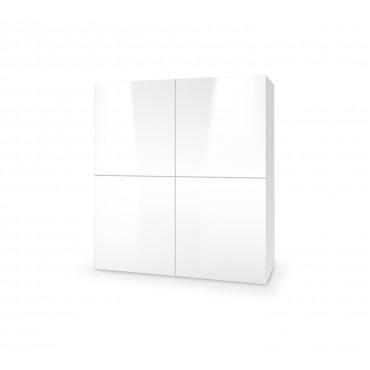 LIVO KM-100 komoda stojąca biały (1p 1szt) - Halmar
