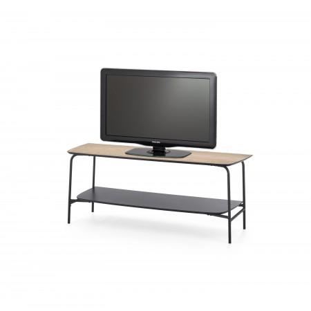 GENUA RTV1 stolik RTV czarny / naturalny (1p 1szt) - Halmar