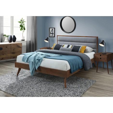 ORLANDO łóżko popielaty / orzech (3p 1szt) - Halmar