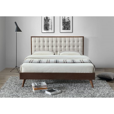 SOLOMO łóżko beżowy / orzech (3p 1szt) - Halmar