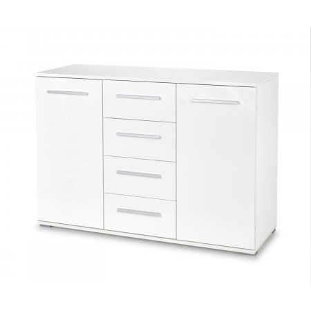 LIMA KM-4 komoda biały (2p 1szt) - Halmar