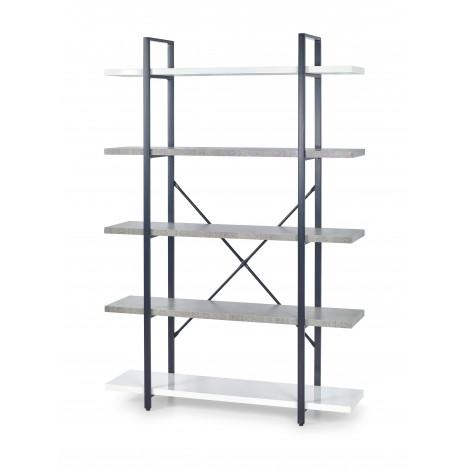 STONNO REG2 regał biały / beton (1p 1szt) - Halmar