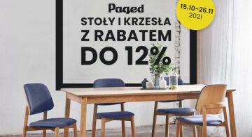 Promocja - krzesła i stoły Paged taniej o 12%